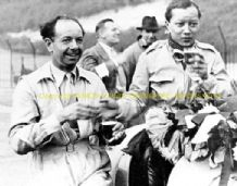 Raymond Mays & B Bira after Brooklands JCC International Trophy 1938
